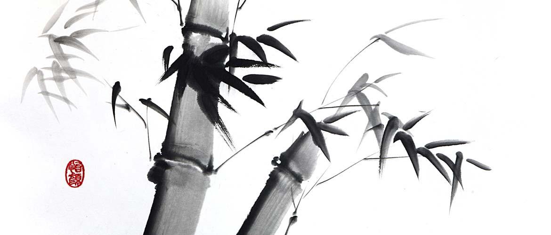 Sumi-e - 4 edlen Herren - Bambus