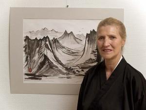 Sumi-e Ausstellung Galerie EinStein 2004