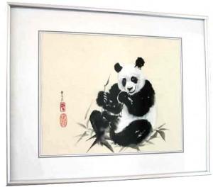 Panda - Beispiel für gerahmtes Bild