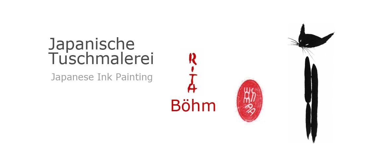 Sumi-e Japanische Tuschmalerei Rita Böhm