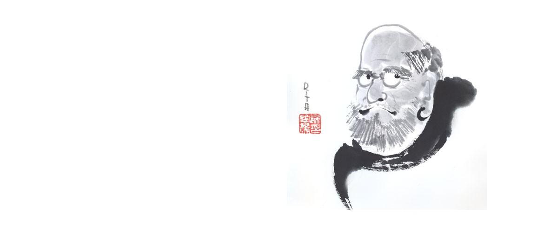 Sumi-e Zen-Malerei